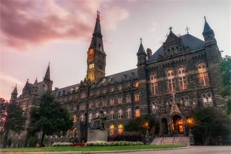 乔治城大学世界排名最新排名第102(2020年THE世界大学排名)