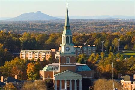 维克森林大学排名第27(2020年USNEWS美国大学排名)